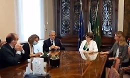 Incontro tra Christiane Lamber e Diana Lenzi nella sede di Confagricoltura