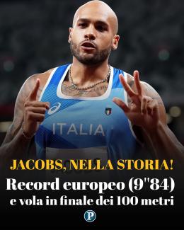 Tokyo: 9''84, Jacobs in finale 100 metri con terzo tempo e record europeo