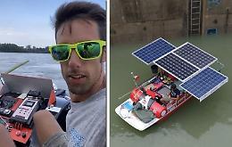 Sul Po da Valenza a Venezia con il natante ad energia solare