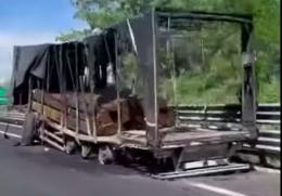Camion a fuoco: 3 chilometri di coda in A21