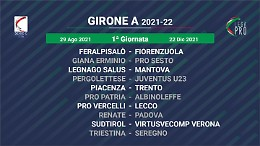 Pro Vercelli e Juventus U23: doppio esordio piemontese per la Pergolettese