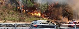 Devastazione incendi, la Protezione civile lotta contro il fuoco