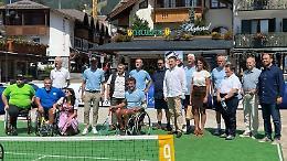 Tennis in carrozzina, partnership con Madonna di Campiglio