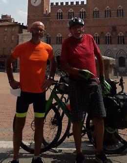 Due amici in pellegrinaggio, in bici da San Daniele a Roma