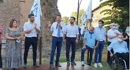 Uragano Salvini a Pizzighettone contro ddl Zan, giudici, reddito di cittadinanza e... Fedez
