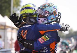 GpMonza, doppietta Mc Laren. Fuori Hamilton e Verstappen