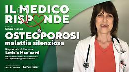 «Osteoporosi», malattia silenziosa