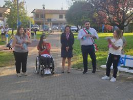 Agnadello, inaugurati i giochi inclusivi al parco comunale di via Pertini