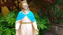 La Vergine ferita dall'Isis esposta a Sant'Agostino