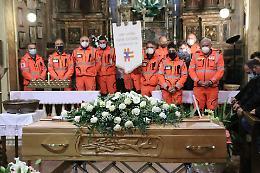 Il picchetto d'onore della Padana Soccorso per l'addio a Manuela