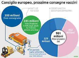 Metà degli adulti Ue avranno ricevuto la prima dose anti-Covid entro la settimana