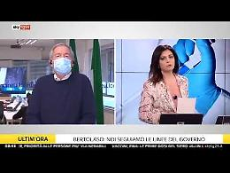 Tensione con la giornalista di Sky, Bertolaso interrompe il collegamento