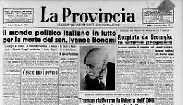 Il mondo politico italiano in lutto per la morte del sen. Ivanoe Bonomi