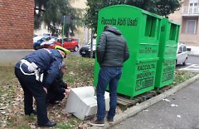 Computer del Racchetti, rubati e poi abbandonati in strada