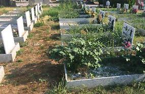 Cimitero, terra di nessuno: erba alta tra le sepolture e proteste