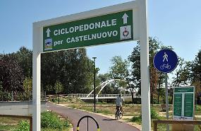 Castelnuovo, dopo la passerella arriva anche la pista ciclabile