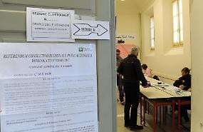 Referendum consultivo, il 'sì' incassa il 96,34%