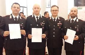Riconoscimento a 4 carabinieri per il salvataggio di due persone