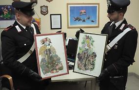 Rinvenuti due quadri di valore, denunciato per furto operaio di Trescore