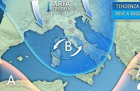 In arrivo freddo tardivo e neve a bassa quota con venti dalla Russia