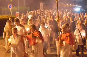Processione dell'Assunta, folla per la patrona del Casalasco