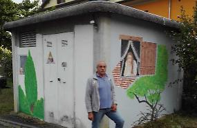 Le cabine come quadri con l'arte di Fortini