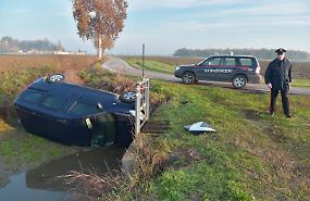 Passante nota vettura nel fosso, ma l'automobilista non c'è