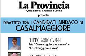 Lunedì 20 maggio i candidati sindaco a confronto con La Provincia