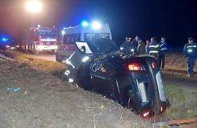 FOTO L'incidente a Solarolo Rainerio in cui è rimasta ferita una coppia di coniugi