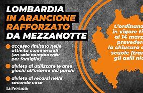 Lombardia, da questa sera tutta zona arancione rafforzato?