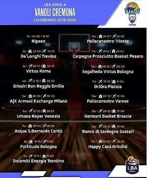 Treviso Basket Calendario.Vanoli Esordio Alla Seconda Giornata Con Treviso La Provincia