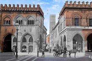 La città che cambia, ieri e oggi in un'immagine