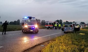 La scena dell'incidente mortale a Vescovato