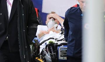 Eriksen collassa in campo, il mondo del calcio sotto shock