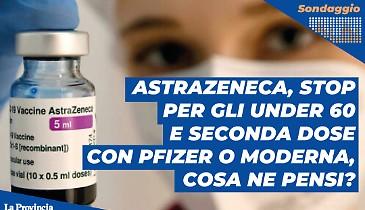 AstraZeneca, stop per gli under 60 e seconda dose con Pfizer o Moderna. Cosa ne pensi?