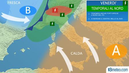 Caldo fino a giovedì 18 maggio, poi tornano i temporali