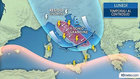 Allerta meteo dalla Protezione civile: temporali, grandine e vento in arrivo