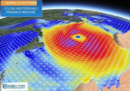 Uragano Medicane in Sicilia: venti fino a 160 Km l'ora
