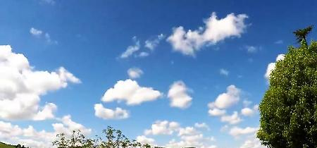Valsamoggia, il time lapse della primavera è un concerto di nuvole e luce