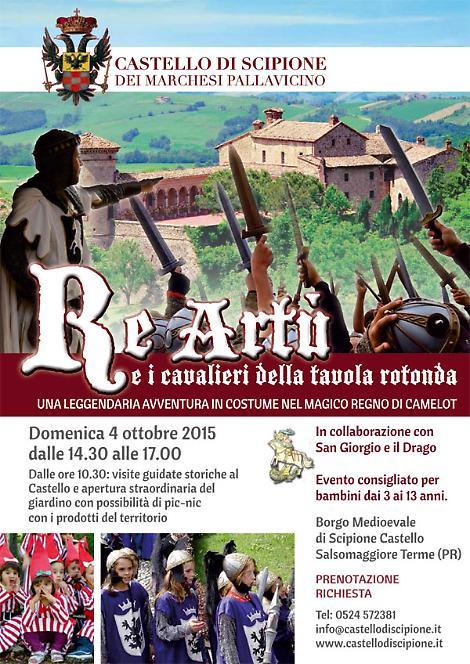 Castello di scipione dei marchesi pallavicino re art e i cavalieri della tavola rotonda la - La tavola rotonda di re artu ...