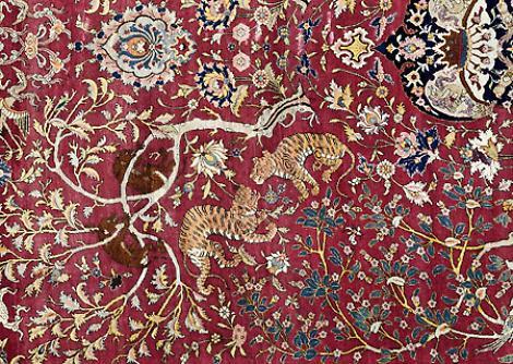 In mostra la collezione dei tappeti persiani del museo la provincia - Tappeti persiani milano ...