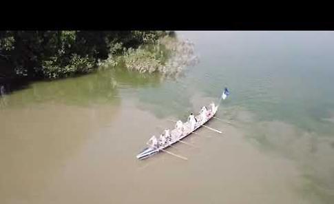 VIDEO La barca della Baldesio alla Vogalunga ripresa con il drone