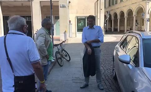 VIDEO - Giorgetti (Lega) in città per sostenere Cavatorta