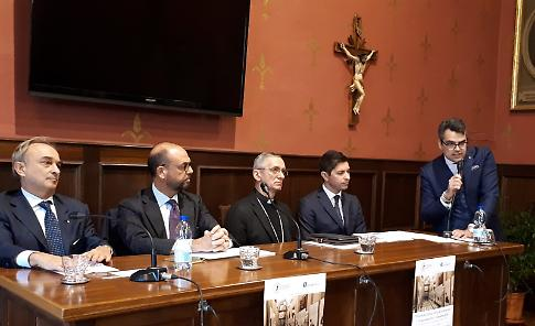 Tavola rotonda sull'Europa con il vescovo, Alfano e Auricchio