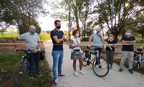 VIDEO Inaugurazione ciclopedonale a Castel Nuovo
