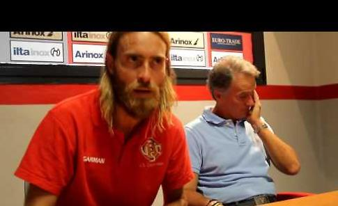 Cremonese-Piacenza, interviste a  Moro e Tesser