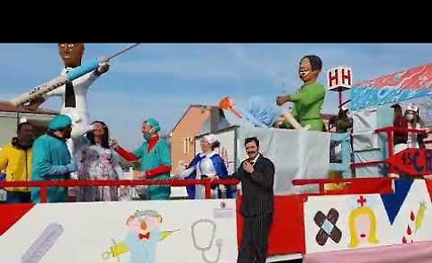 VIDEO La sfilata dei carri al carnevale di Roncadello e Cicognara