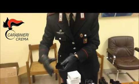 VIDEO I cosmetici sequestrati dai carabinieri
