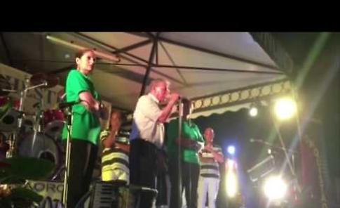 Umberto Bossi alla festa della Lega di Soncino