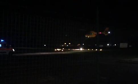 VIDEO L'arrivo dell'elisoccorso all'Aero Club di Cremona
